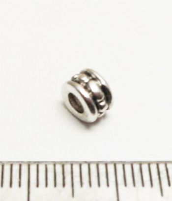 Dotted tube spacer bead. 4.5mm. x 20. BOGOF